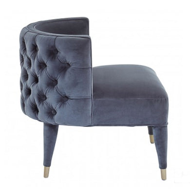 Grey Villa Velvet Chair