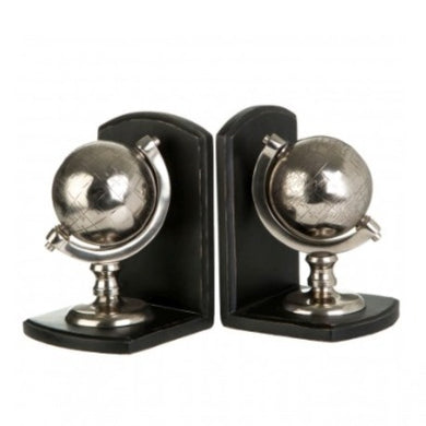 2 Globe Bookends