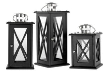 Load image into Gallery viewer, Large Black Finish Boston Lantern 43cm