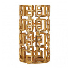 Load image into Gallery viewer, Gold Hurrican Candle Holder 29cm