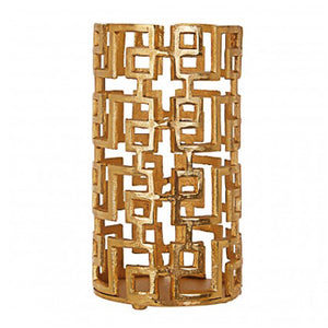 Gold Hurrican Candle Holder 29cm