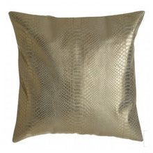 Load image into Gallery viewer, Gold Snake Effect Cushion 45x45cm