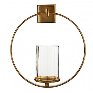 Gold Finish Wall Sconce 33cm