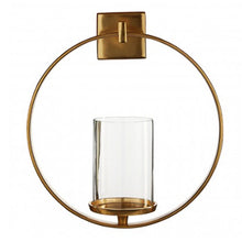 Load image into Gallery viewer, Gold Finish Wall Sconce 33cm