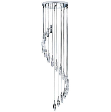 Crystal Multi Drop Ceiling Fitting Large