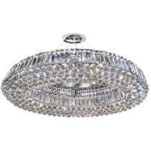 Load image into Gallery viewer, Oval 10 light Crystal Ceiling Fitting