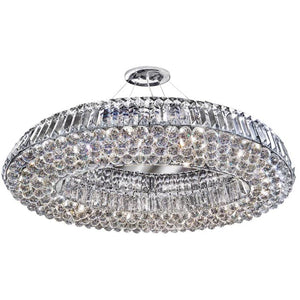 Oval 10 light Crystal Ceiling Fitting