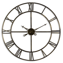 Load image into Gallery viewer, Antique Brass Wall Clock 100cm