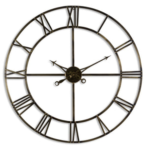 Antique Brass Wall Clock 100cm