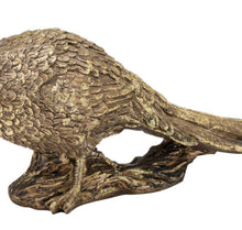 Load image into Gallery viewer, Antique Gold Pheasant Ornament
