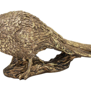 Antique Gold Pheasant Ornament