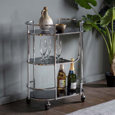 Beau Silver Drinks Trolley