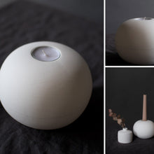 Load image into Gallery viewer, Beige Ceramic Candle Holder