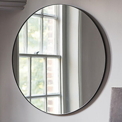 Round Black Frame Mirror