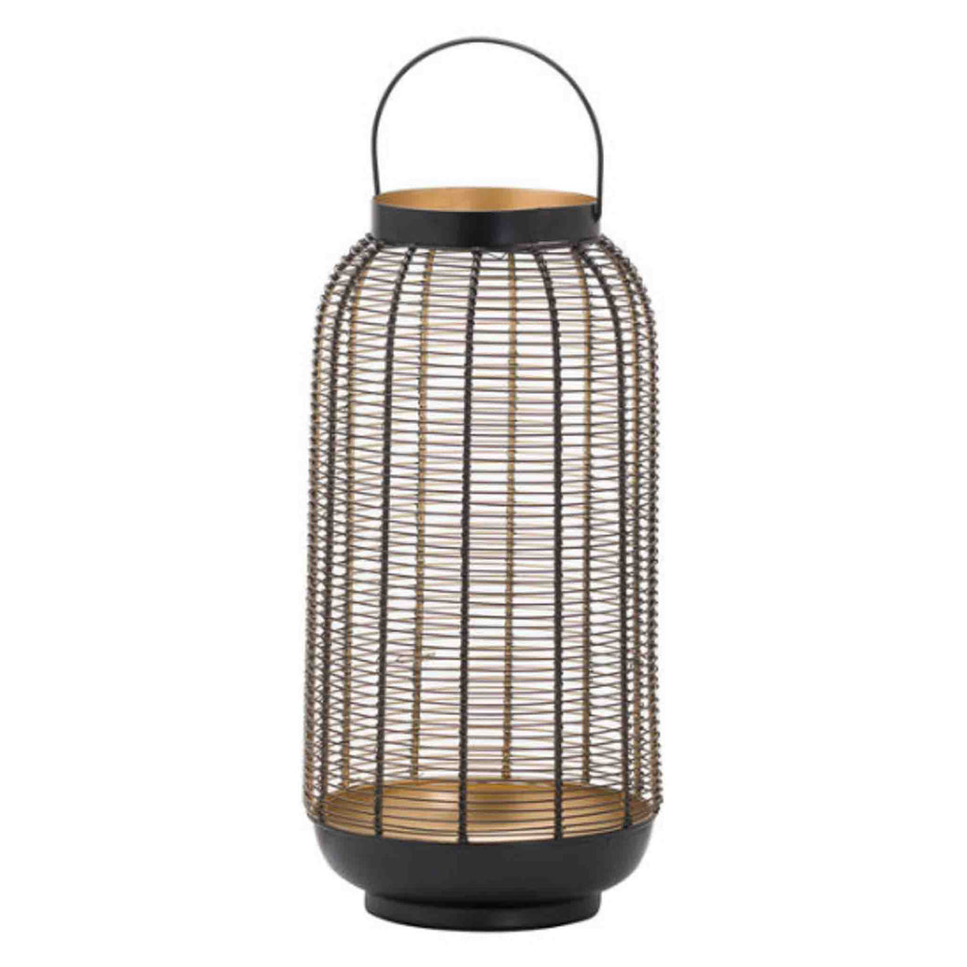 Large Black Wire Lantern 40cm