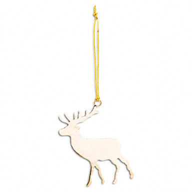 Brass Stag Christmas Tree Decoration
