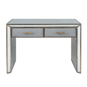 Brina Grey Velvet and Antique Effect Console Table
