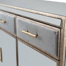Load image into Gallery viewer, Brina Grey Velvet and Antique Effect Sideboard