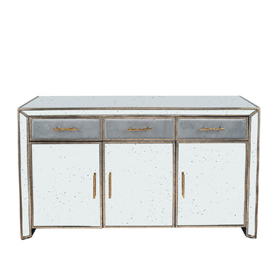 Brina Grey Velvet and Antique Effect Sideboard
