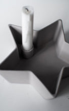 Load image into Gallery viewer, Grey Ceramic Star Candle Holder