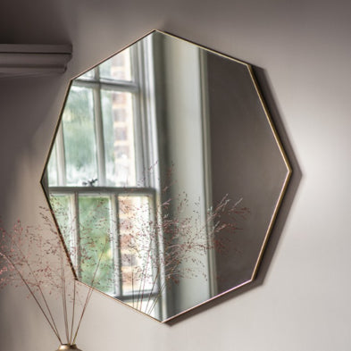 Champagne Hexagon Mirror
