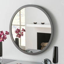 Load image into Gallery viewer, Circular Mirror Grey Frame 110cm x 110cm