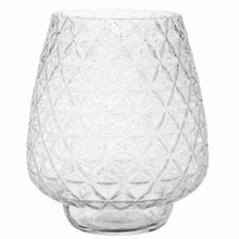 Load image into Gallery viewer, Cut Glass Effect Vase 23cm