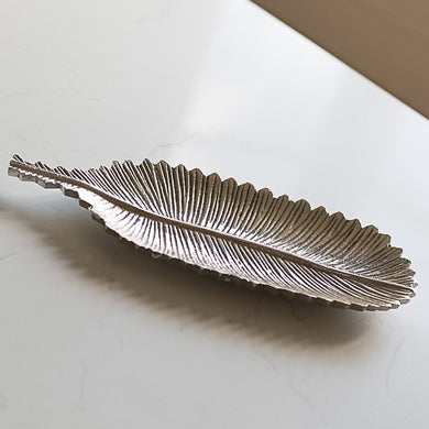Metal Feather Dish