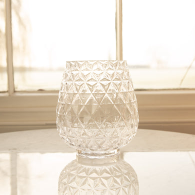 Cut Glass Effect Vase 23cm