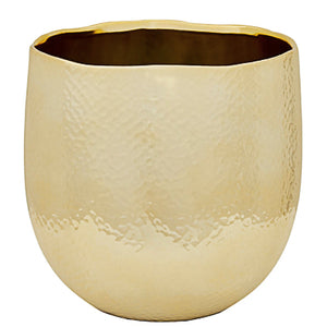 GOLD CERAMIC PLANTER