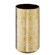 Load image into Gallery viewer, Gold Hex Design Vase 31cm