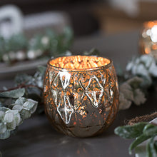 Load image into Gallery viewer, Gold Metallic Tea Light Holder