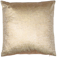 Load image into Gallery viewer, Gold Metallic Velvet Cushion 56cm x 56cm