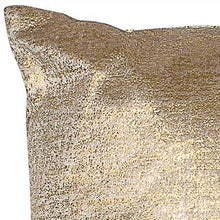 Load image into Gallery viewer, Gold Metallic Velvet Cushion 56cm x 56cm 393