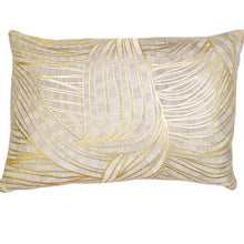 Load image into Gallery viewer, Gold Swirl Design Pillow Cushion 30x50cm