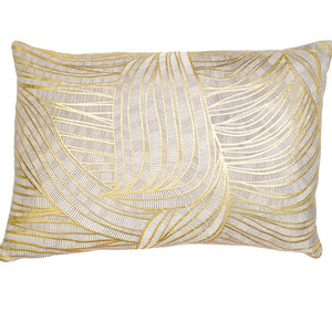 Gold Swirl Design Pillow Cushion 30x50cm