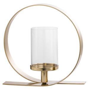 Gold Loop Candle Holder 30cm