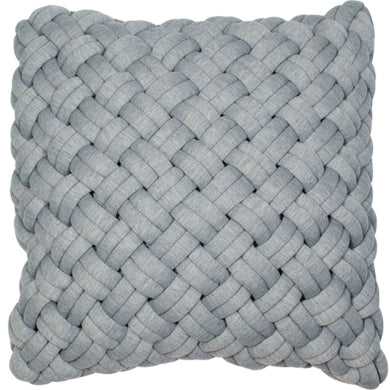 Grey Chunky Knit Cushion 45*45