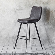 Load image into Gallery viewer, Grey Leather 2 pack bar stools