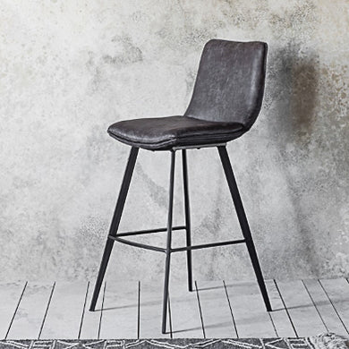 Grey Leather 2 pack bar stools