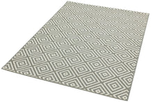 Load image into Gallery viewer, Grey Square Design Patio Rug
