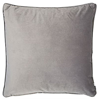 Grey Velvet Piped Cushion 50cm x 50cm