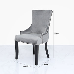 Grey Velvet Chair with knocker