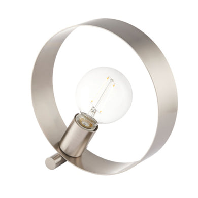 Hoopla Brushed Nickel Lamp