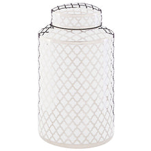 Load image into Gallery viewer, White and Silver Ceramic Jar