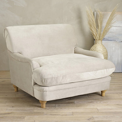 Laura Beige Velvet Occasional Chair