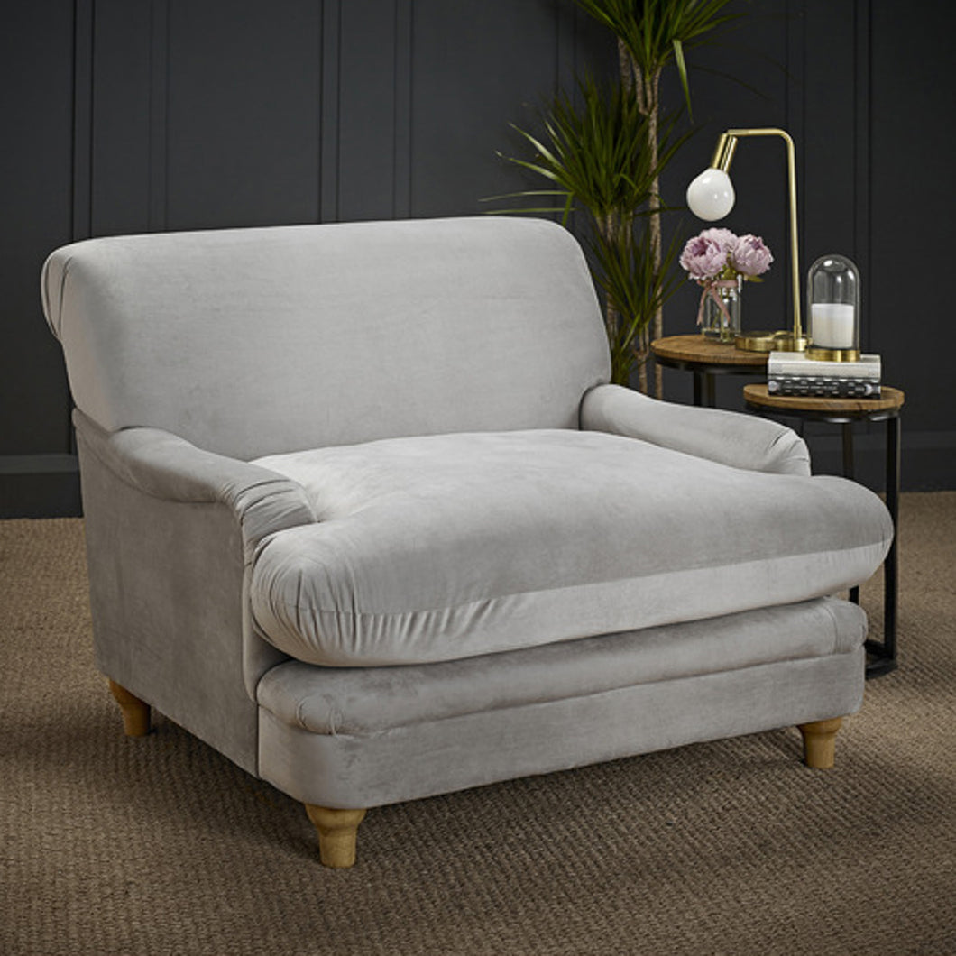 Laura Grey Velvet Occasional Chair