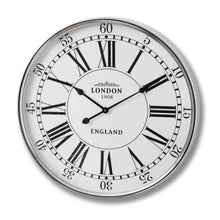Load image into Gallery viewer, London Chrome Wall Clock 68cm
