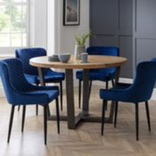 Load image into Gallery viewer, Lux Blue Dining Chair