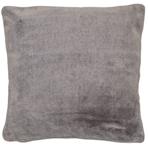 Grey Fur Effect cushion 50x50cm